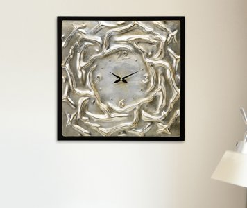 AGITATED WATERS CLOCK PINTDECOR