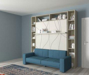 Letto matrimoniale spazio prof. 62 con divano