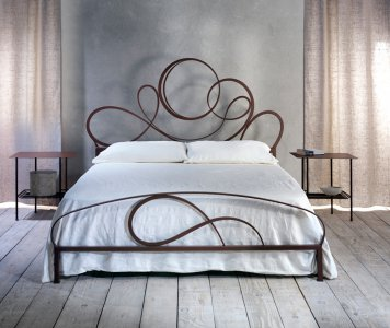 Letto matrimoniale Ravello Cosatto in ferro battuto made in Italy
