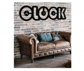 OROLOGIO BLACK CLOCK PINTDECOR