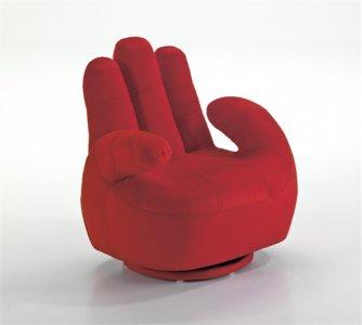 Poltrona per bambino morbida a forma di mano