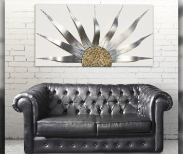 Quadro solar storm silver pintdecor
