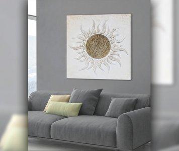 Quadro sole bianco