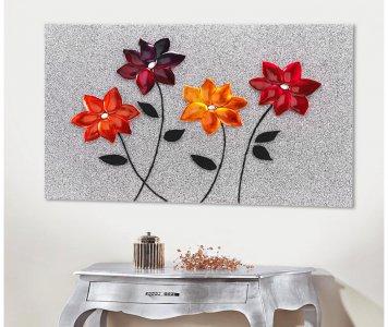 Quadro glitter flowers pintdecor