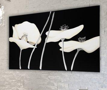 Quadro papaveri bianchi pintdecor