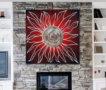 Quadro sole rosso pintdecor
