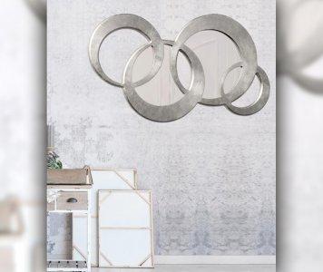 Specchiera circles media silver