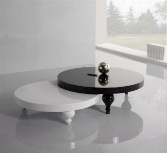 Tavolino rondo` bianco