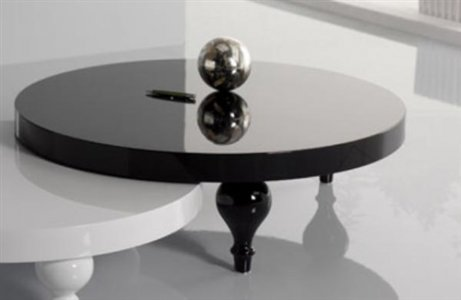 Tavolino rondo` nero