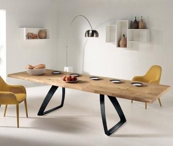 Tavolo in legno truciolare allungabile con gambe in metallo   Gardinistore