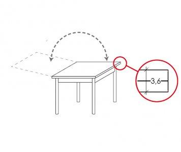 Tavolo quadrato raddoppiabile