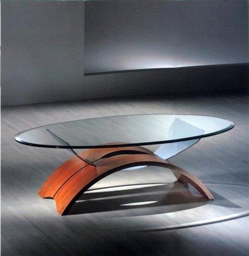 Tavolini Salotto In Ciliegio.Tavolino Arco In Vetro