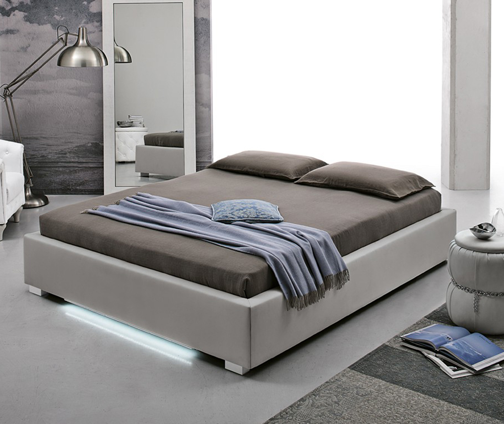Letto Target Point Con Contenitore Imbottito In Soft Touch