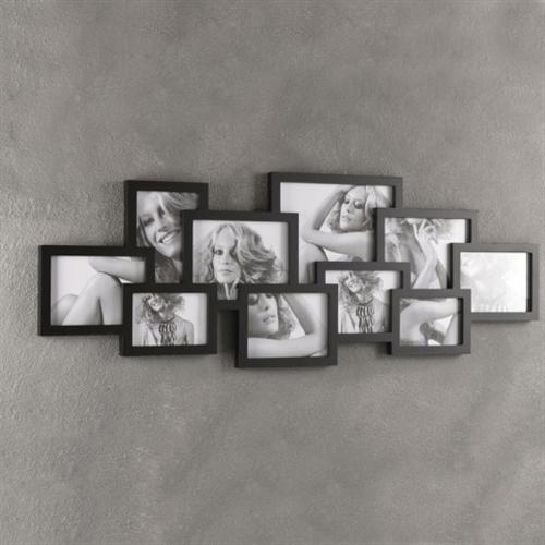 Portafoto da parete per 10 fotografie collage - Cornici da parete per foto ...