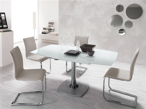 Sedia desy for Mesas de comedor de vidrio y metal