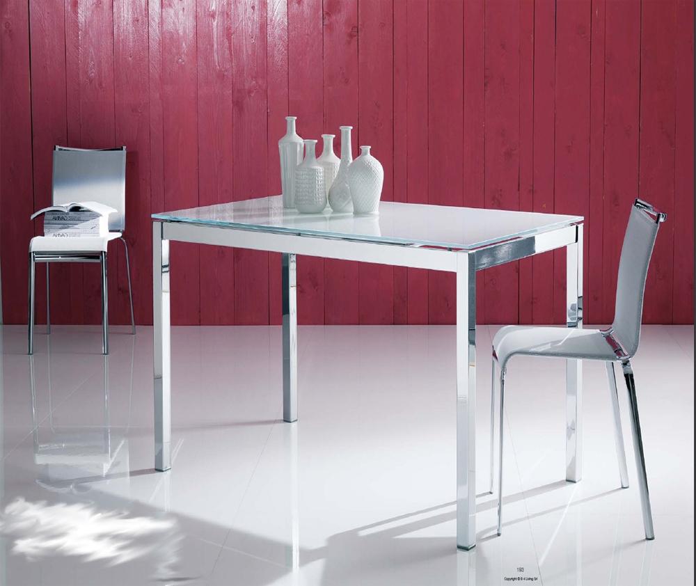 Tavolo vetro e acciaio allungabile | Terredelgentile