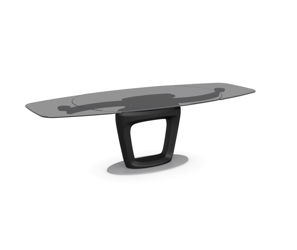 Orbital connubia calligaris acquista il tavolo online for Tavolo cristallo calligaris prezzo