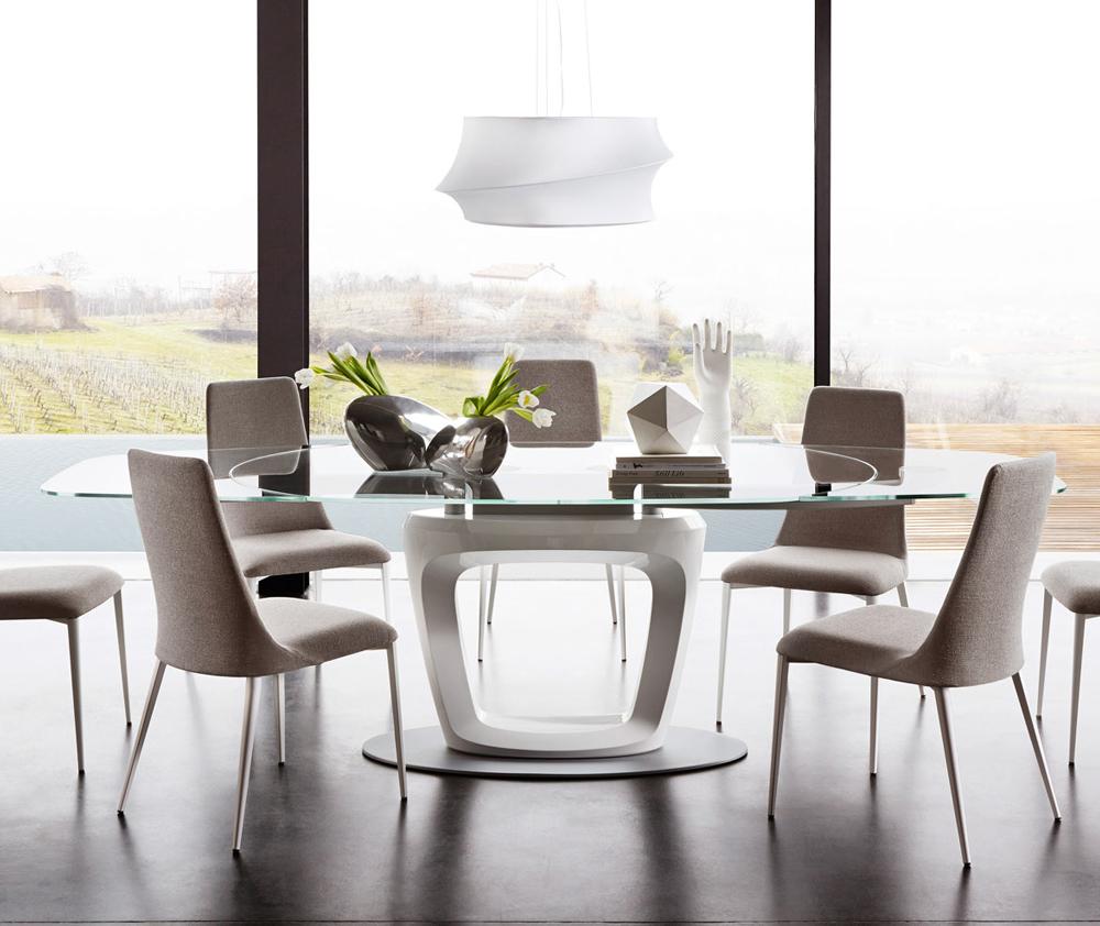 Orbital connubia calligaris acquista il tavolo online for Tavolo vetro bianco calligaris