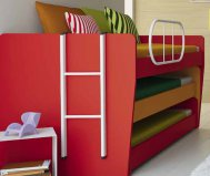 Sliding bed composed by three individual beds - Gardinistore