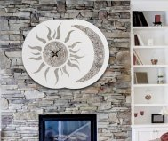 SUN MOON CLOCK PINTDECOR