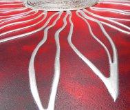 Red sun painting pintdecor