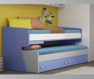 Sliding ROUND bed with dressers