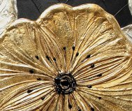 Small gold petunia painting pintdecor