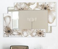 BROKEN UP SMALL PETUNIA MIRROR PINTDECOR