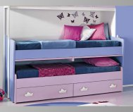 The sliding VICTOR bed with dressers