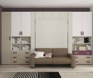 SPACE BED SOFA double bed vertical P62