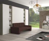 Letto matrimoniale spazio prof. 39 con divano