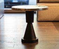 Tavolino da salotto in stile industriale con struttura in alluminio
