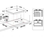 Piano cottura Indesit THP642IX