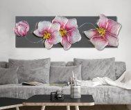 quadro orchidea argento pintdecor