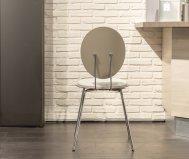Sedia oval bianco
