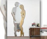 Specchiera Adamo ed Eva argento oro