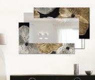 Specchio petunia oro scomposta piccola pintdecor