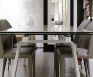 Tavolo da pranzo in metallo e gres allungabile Alexis