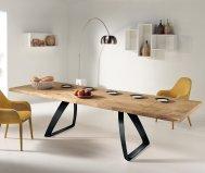 Tavolo in legno truciolare allungabile con gambe in metallo | Gardinistore