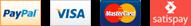 Paypal, American Express, Visa, MasterCard